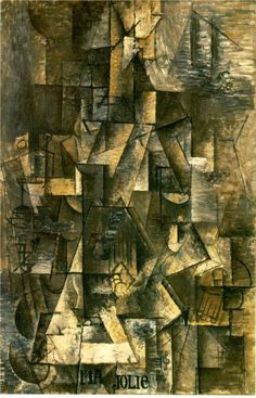 Pablo Picasso, 1912, My beautiful (woman with guitar), (cubism)
