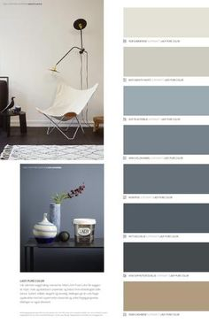 Living Room Paint Ideas 2015 Lovely Jotun Lady Det Nye Vakre Fargekartet 2015 In 2020 Living Room Color Schemes, Living Room Colors, Bedroom Paint Colors, Paint Colors For Home, Blue Bedroom, Bedroom Decor, Jotun Lady, Blue Wall Colors, Deco Blue