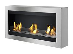 The Ignis EBG1400 Ethanol Fireplace Grate is a natural looking fireplace that can be used anywhere in your home.