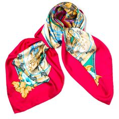 Pre-owned Hermes Scarf/Wrap (6.774.730 VND) ❤ liked on Polyvore featuring accessories, scarves, apparel & accessories, clothing accessories, pink, scarves & shawls, print scarves, pink shawl, pink scarves and wrap scarves