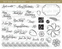 Say it with Style stamp set (Nestie Friendly)