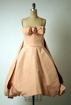 Evening dress, 1958, by Dior. From the collections of the Metropolitan Museum of Art.
