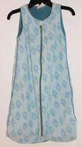 Baby boy girl Organic Sleepsack wearable blanket Peacock feather blue green Soft