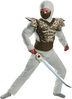 Desert Camo Ninja Classic Muscle Costume Child 78
