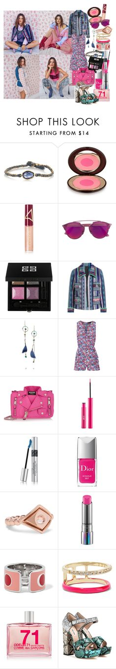 """""""Oh and I overdose, boy I want off of this roller coaster, you take me high just to bring me down, Oh, and you bring me down"""" by brownish ❤ liked on Polyvore featuring BROOKE GREGSON, Charlotte Tilbury, Wander Beauty, Givenchy, Anna Sui, Etro, Saloni, Moschino, Christian Dior and Arme De L'Amour"""