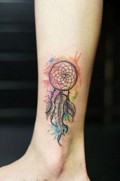 Resultado de imagen para watercolor tattoo dreamcatcher