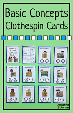 These clothespin cards are perfect to practice basic concepts in special education or speech therapy.  These Earth Day activities are also perfect independent work tasks in autism classrooms!