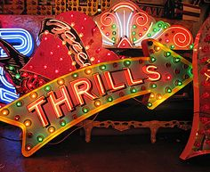 God's own junkyard - The Neon Man These photos feel wonderfully festive. After making neon signs for 37 years, Chris Bracey has truly earned his nickname, The Neon Man. Carnival Signs, Creepy Carnival, Neon Carnival, Carnival Ideas, Neon Words, Retro Arcade, Neon Nights, All Of The Lights, Vintage Carnival