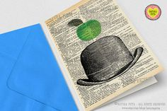 The Son of Man Magritte Tribute Greeting Card 4x6 by naturapicta, $3.99 © NATURA PICTA