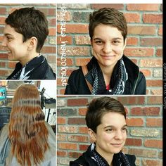 @sierra_haircolorist what amazing makeover  who loves her pixie