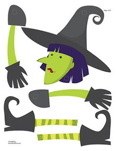 halloween decoration witch craft printable halloween activity for kids