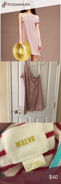 Anthropologie One Shoulder Maeve dress size large Cute and comfortable dress, worn once, perfect for a warm vacation! Dresses One Shoulder