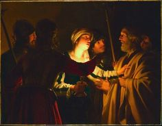 Gerrit Van Honthorst The Denial of St Peter, , Institute of Fine Arts, Minneapolis. Read more about the symbolism and interpretation of The Denial of St Peter by Gerrit Van Honthorst. Rembrandt, Peter Denies Jesus, Baroque Painting, Baroque Art, Art Ancien, Religion Catolica, Dutch Golden Age, Maritime Museum, Holy Week