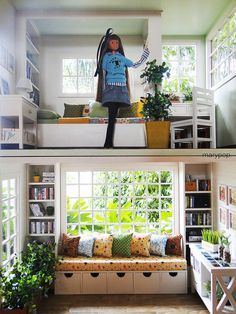 how to build a 1:6 shelving unit for barbie - Google Search