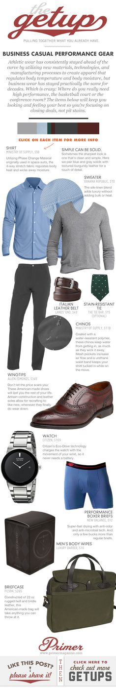 The Getup: Business Casual Performance Gear - Primer