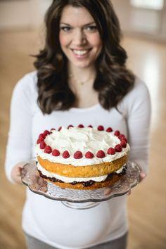 Raspberry and Coconut Cake.jpg Frambozen en kokosnoot taart