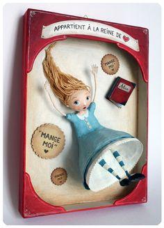 Alice in Wonderland papier mâché