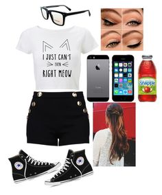 """""""""""I'm feelin sexy and free. Like rain is rainin on me"""""""" by colorful-tiger74 ❤ liked on Polyvore featuring Boutique Moschino, SocialEyes and Converse"""