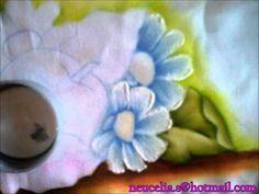 Pintura em tecido, passo a passo maças e margaridas