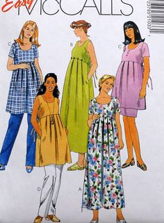 McCall's 2103  Maternity Dresses Tops Pants Skirts  by Clutterina