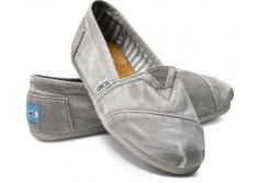 grey tom's. need some mommy shoes without laces! on the go!, $48
