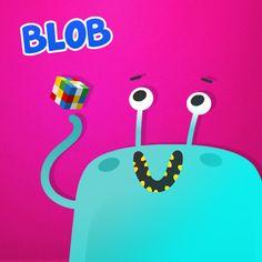 Blob es mi nombre y me gusta #reír, comer y #reír otra vez… a veces me zampo los libros que tienen muchas letras o algún juego divertido con sus colores, es mi forma de #aprender… jejeje.