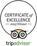 trip advisor 2015 certificate of excellence hotel logo