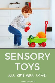 All kids benefit from sensory play, whether they have sensory processing issues or not. Sensory toys encourage children to develop their senses and motor skills... this is important learning for everyone! Learn the benefits of sensory play and check out our curated list of educational toys kids will love. #beenke #ourpicks #toys #sensorytoys #educationaltoys Sensory Toys For Autism, Educational Toys For Kids, Sensory Activities, Sensory Play, Activities For Kids, Toddler Toys, Kids Toys, Kids Gadgets, Diy Toy Storage