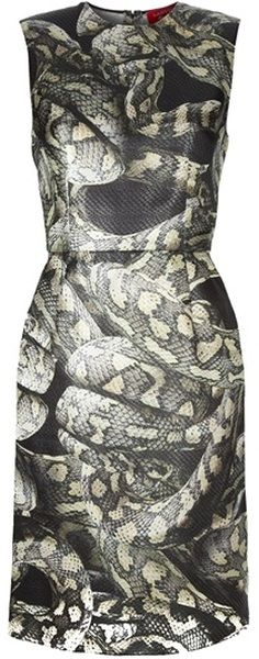 For whatever reason--probably because this is a little scary--I find this dress very sexy. Snake Print Dress | The House of Beccaria#