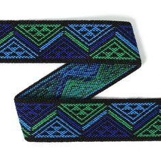 Color Elastic Dreieck - blau (25) - Polyester - Elasthan - Farbmix