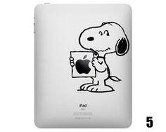 Five Snoopy iPad Decals