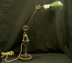 Steampunk Industrial Desk Lamp Backbone with by steampunklighting