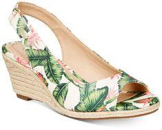 Charter Club Samiee Slingback Espadrille Wedge Sandals, Created for Macy's