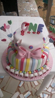 Rainbows are for girls - by AYdot @ CakesDecor.com - cake decorating website