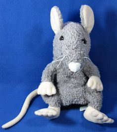 """Folkmanis Large 16"""" Hand Puppet Gray Mouse Rat #Folkmanis"""