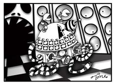 The Daily Dalek : Day 190: Dalek Burtonesque http://www.tonecartoons.co.uk/blog/archives/3626