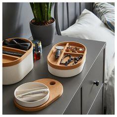IKEA SAXBORGA cork tray inserts & mirro