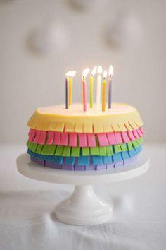 DIY Fondant Fringe Cake - This Colorful Fondant Cake Recipe is Fashionably Fringy (GALLERY)