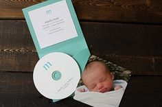 Baby announcement with cd