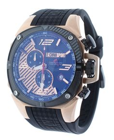 Technosport TS-100-5F1 Men's Watch Formula 1 Swiss Chronograph Black Rubber Strap