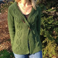 Loving the greens used on Shadystroll's Montview. She carried a strand of Kidsilk Haze along while knitting! Read her notes here: http://www.ravelry.com/projects/shadystroll/montview-cardigan