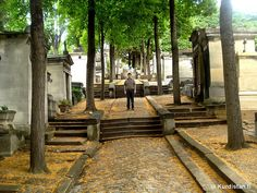 """Père Lachaise Cemetery, Paris    Père Lachaise Cemetery (French: Cimetière du Père-Lachaise; officially, cimetière de l'Est, """"East Cemetery"""") is the largest cemetery in the city of Paris, France at (48 ha, 118.6 acres), though there are larger cemeteries in the city's suburbs.    Père Lachaise is one of the most famous cemeteries in the world. Located in the 20th arrondissement, it is reputed to be the world's most-visited cemetery, attracting hundreds of thousands of visitors annually to…"""