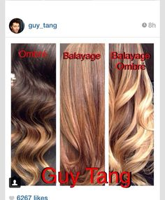 The difference between ombré and balayage