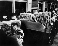 People reading about JFK murder John F Kennedy, Jfk Kennedy, Milan Kundera, People Reading, Kennedy Assassination, We Are The World, Life Pictures, Entertainment, Black And White