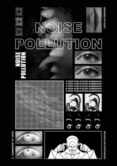 Poster Project - Noise Pollution on Behance Graphic Design Posters, Graphic Design Typography, Graphic Design Inspiration, Graphic Design Layouts, Behance Illustration, Illustration Vector, Posters Tumblr, Flugblatt Design, Cover Design