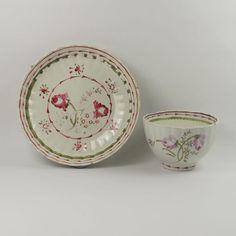 English Pearlware Tea Bowl & Saucer Georgian century Circa 1790 from trinityantiques on Ruby Lane
