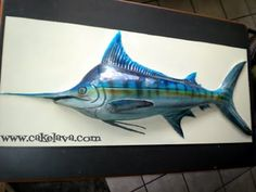 Blue Marlin Cake Cake by MelSugarandSpiceCakes Fishing Cakes
