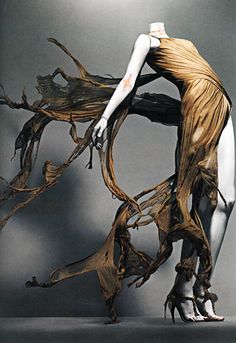 From the 'Alexander McQueen: Savage Beauty' exhibit which contained 100 pieces of clothing and 70 accessories from McQueen's 19 year career in fashion. Photo courtesy of the Metropolitan Museum of Art.