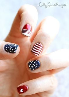 This manicure has fun different designs that look adorable together. From Pinterest/texas-as-hell.tumblr.com
