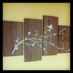 barnwood crafts | DIY barn wood wall art.
